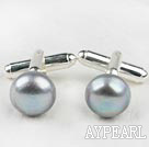 11.5-12mm Gray Freshwater Pearl Cufflinks
