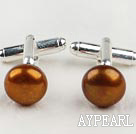11.5-12mm Golden Brown Freshwater Pearl Cufflinks