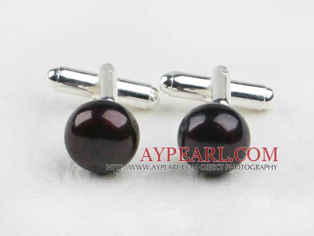 11.5-12mm Black Freshwater Pearl Cufflinks