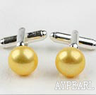 11.5-12mm Yellow Freshwater Pearl Cufflinks