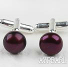 11.5-12mm Purple Red Freshwater Pearl Cufflinks